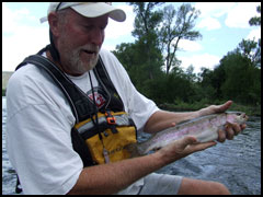 Nice Rainbow Trout, Gunnison River Guides Float Fishing